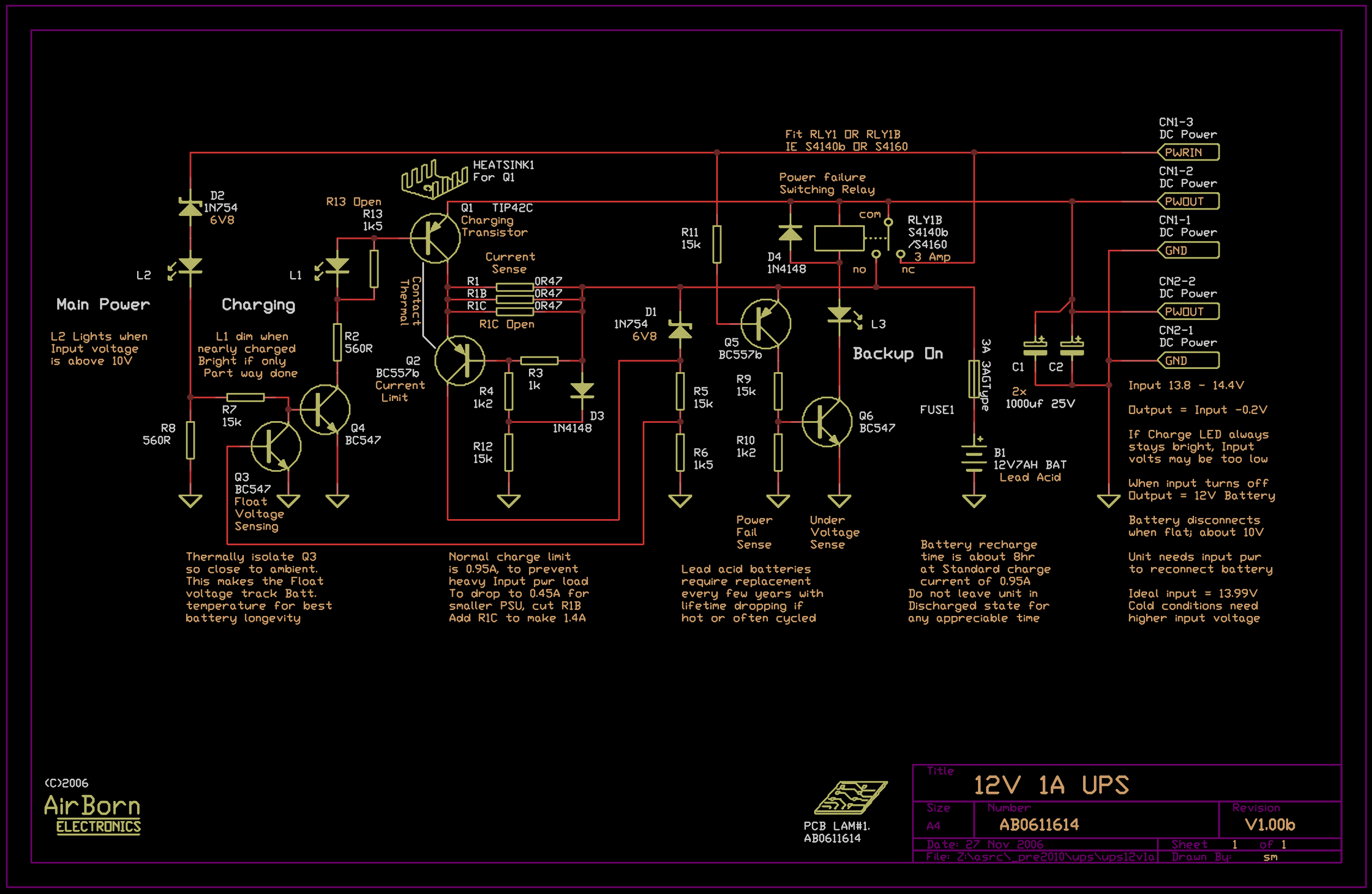 12v 1a dc in dc out ups ab0611614 circuit diagram ccuart Image collections